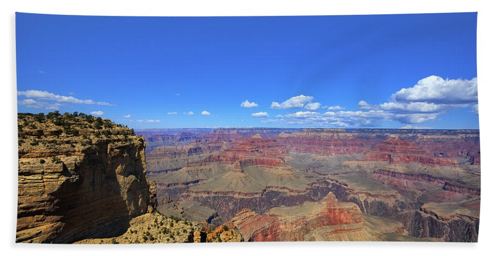 Hdr Hand Towel featuring the photograph The Grand Canyon by Angela Stanton