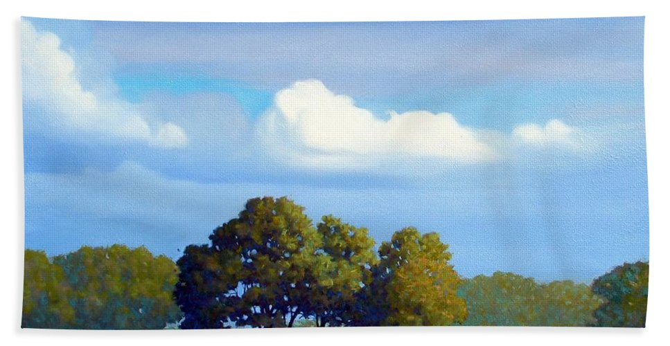 Landscape Hand Towel featuring the painting The Path by Kevin Lawrence Leveque