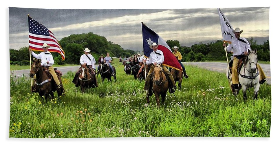 Horses Bath Sheet featuring the photograph Trail Ride by Shannon Story