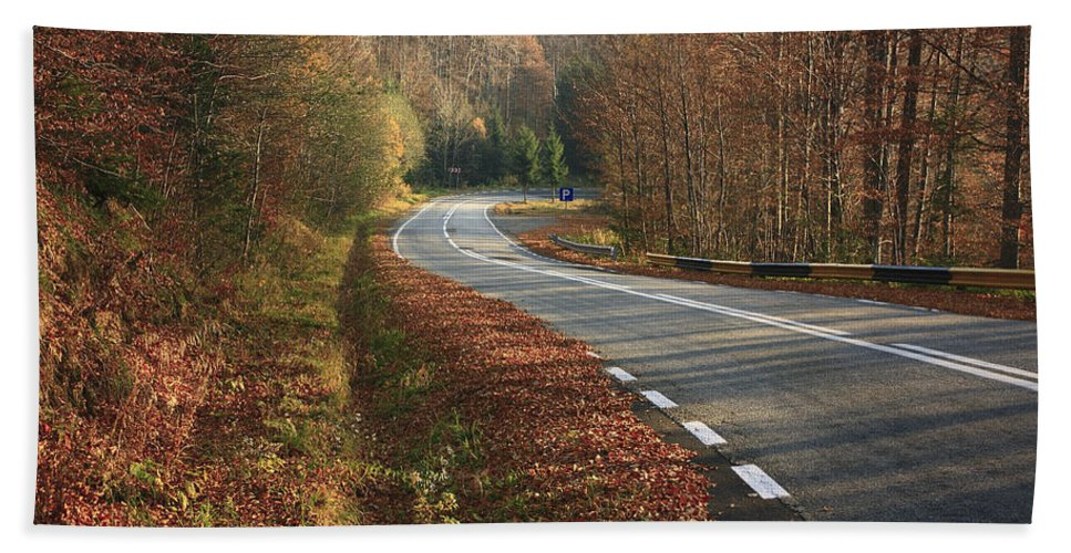 Autumn Hand Towel featuring the photograph Transfagarasan Road Carpathian Mountains Romania by Ivan Pendjakov
