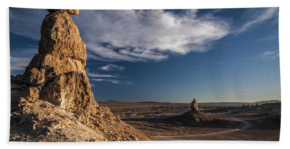 California Hand Towel featuring the photograph Trona Pinnacles by Cat Connor