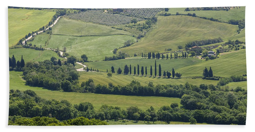 Val D'orcia Bath Sheet featuring the photograph Tuscany - Val D'orcia by Joana Kruse