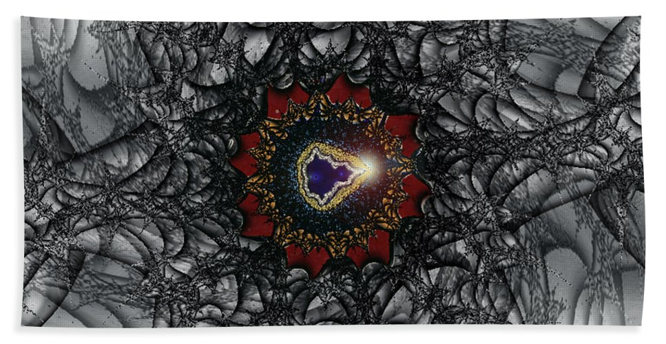 2-dimensional Hand Towel featuring the digital art Twisting by Dana Haynes