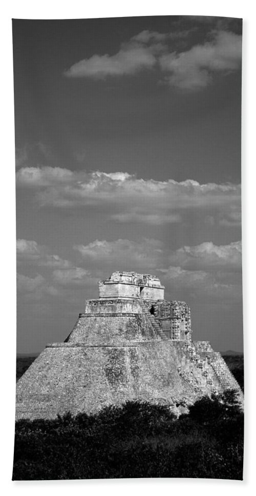 America Hand Towel featuring the photograph Uxmal Ruins by Roy Pedersen
