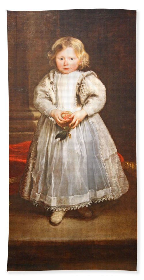 Maddalena Cattaneo Hand Towel featuring the photograph Van Dyck's Maddalena Cattaneo by Cora Wandel