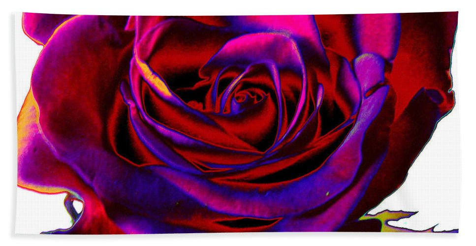 Velvet Hand Towel featuring the digital art Velvet Rose by Carol Lynch
