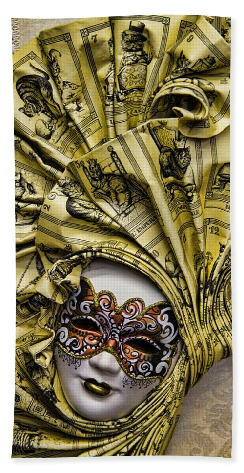 Venetian Hand Towel featuring the photograph Venetian Carnaval Mask by David Smith