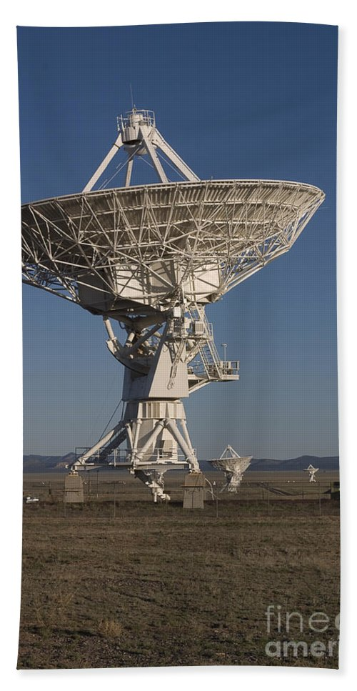 New Mexico Bath Sheet featuring the photograph Very Large Array by Steven Ralser