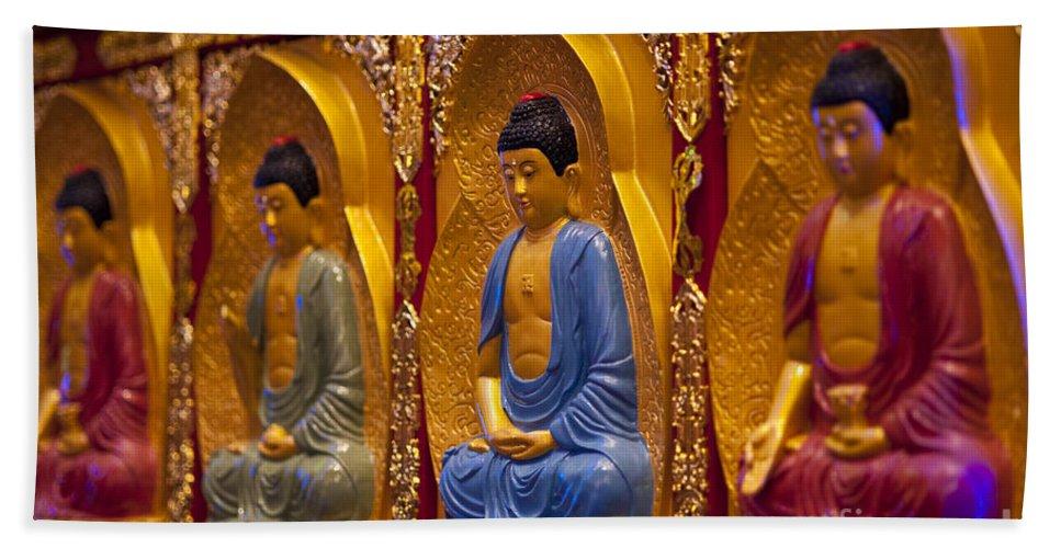 Buddha Bath Sheet featuring the photograph Vietnamese Temple by Jim Corwin
