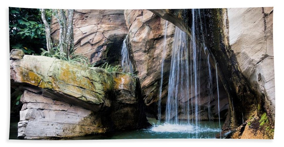 Waterfall Bath Sheet featuring the photograph Waterfall by Rudy Umans