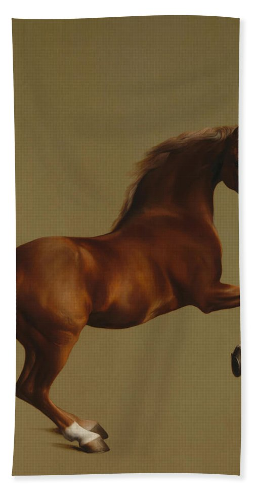 Thomas Gainsborough Hand Towel featuring the painting Whistlejacket by George Stubbs