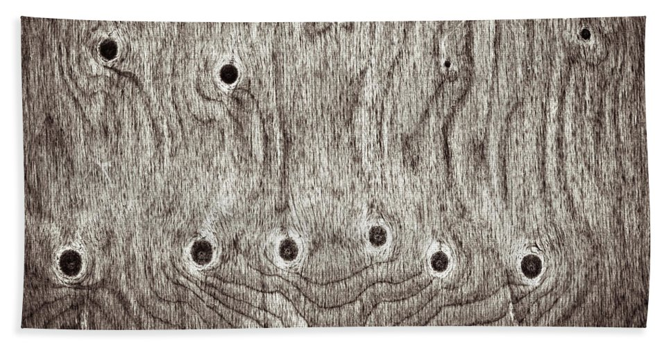 Age Hand Towel featuring the photograph Wooden Background by Tom Gowanlock
