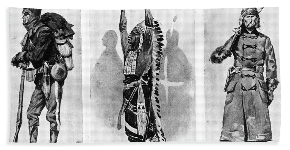 1890 Bath Sheet featuring the photograph Wounded Knee, 1890 by Granger