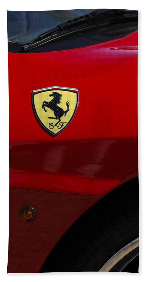 Transportation Hand Towel featuring the photograph 2007 Ferrari F430 Spider F1 by Jill Reger