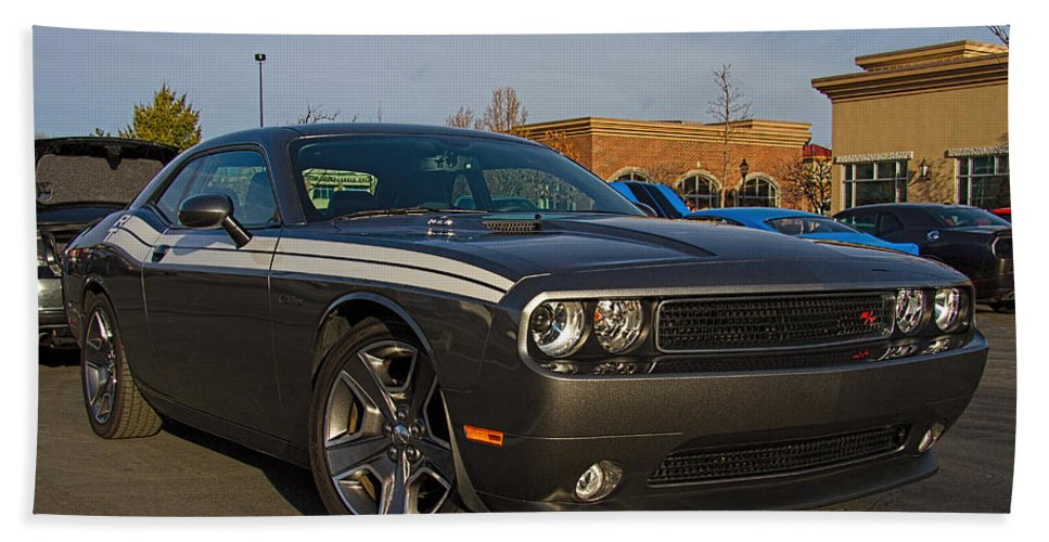 2012 Hand Towel featuring the photograph 2012 Dodge Challenger R/t Classic by Nick Gray