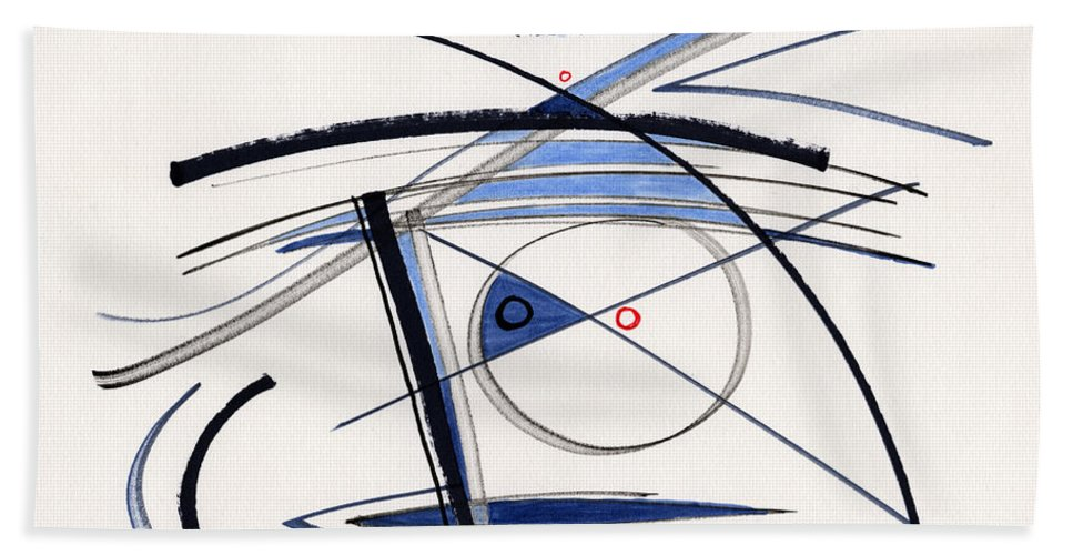 Abstract Hand Towel featuring the drawing 2014 Abstract Drawing #1 by Lynne Taetzsch