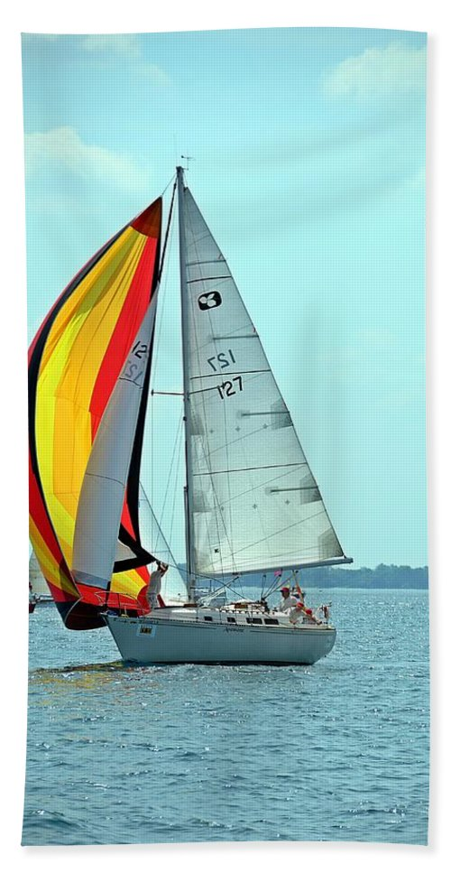 2014 Bells Beer Bayview Mackinac Bath Sheet featuring the photograph Anemone And Defiant by Randy J Heath