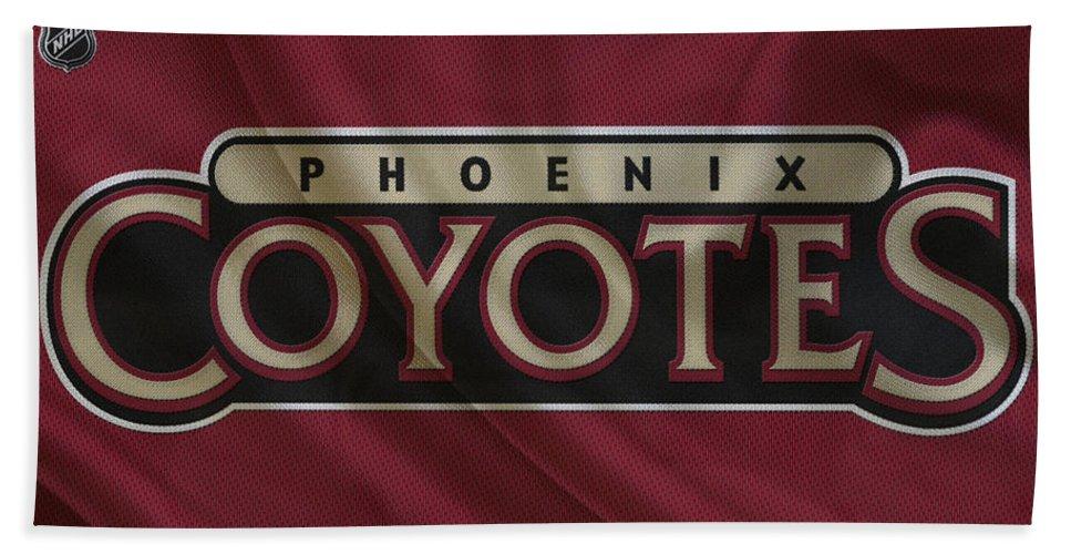 Coyotes Hand Towel featuring the photograph Phoenix Coyotes by Joe Hamilton