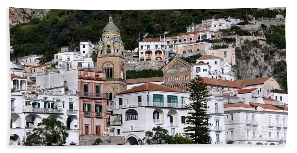 Amalfi Coast Bath Sheet featuring the photograph Views From The Amalfi Coast In Italy by Richard Rosenshein
