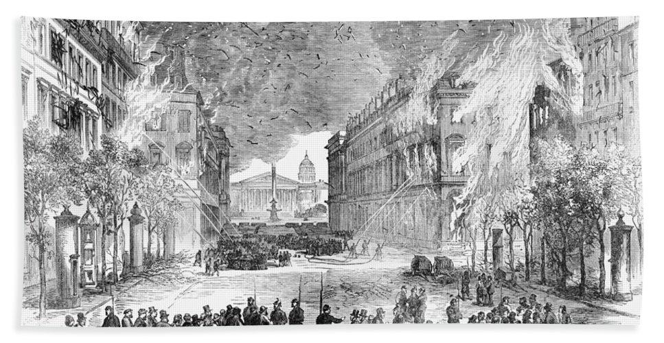 1871 Bath Sheet featuring the painting Paris Commune, 1871 by Granger