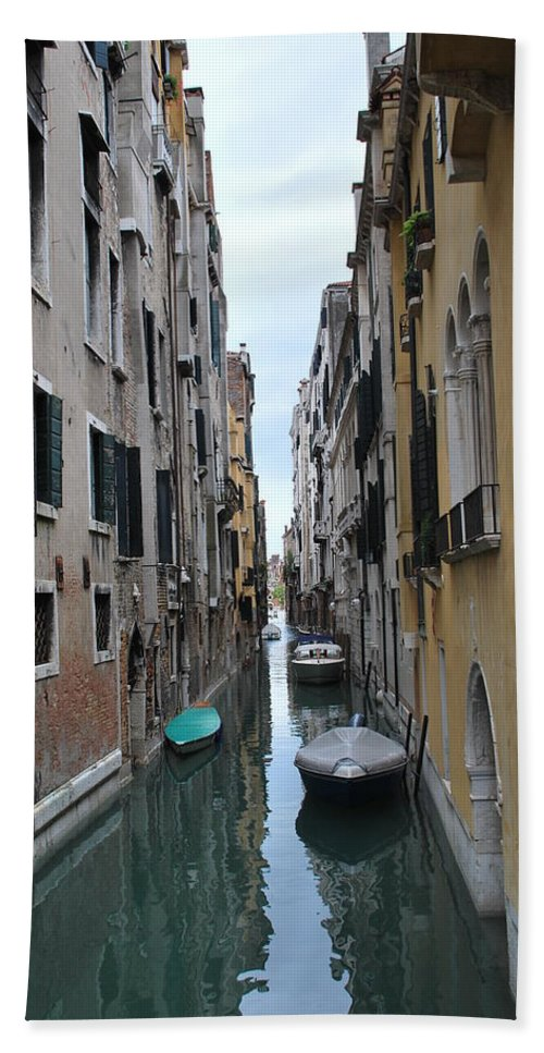 Canal Hand Towel featuring the photograph Venice Canal by Richard Booth