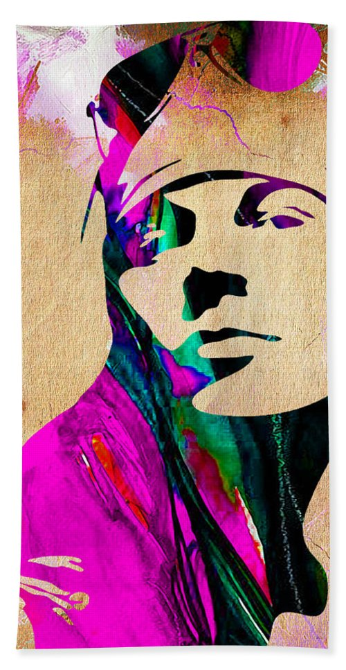 Axl Rose Hand Towel featuring the mixed media Axl Roxe Collection 1 by Marvin Blaine