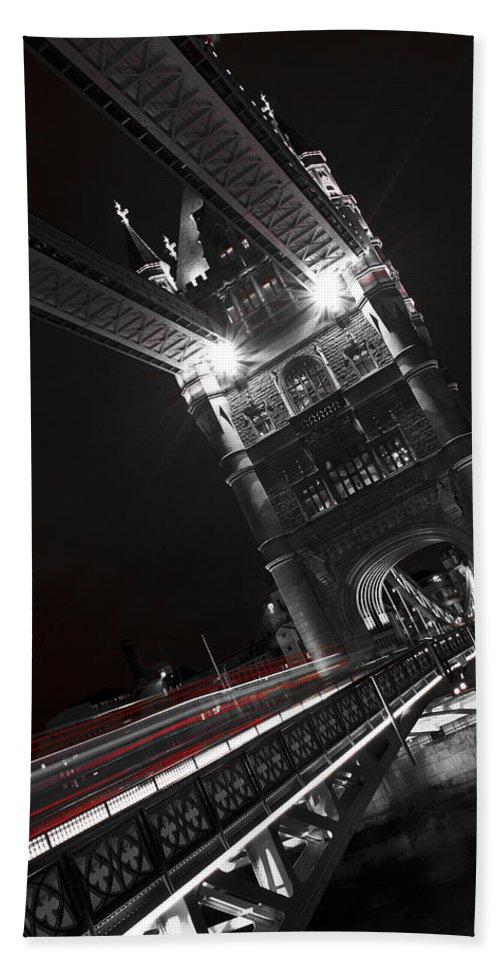 Tower Bridge Hand Towel featuring the photograph Tower Bridge London by David Pyatt