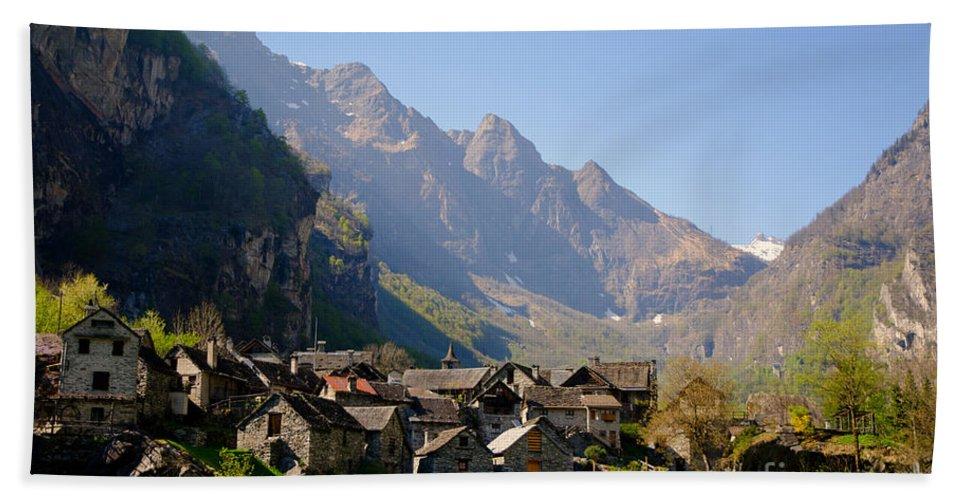 Alpine Village Hand Towel featuring the photograph Alpine Village by Mats Silvan