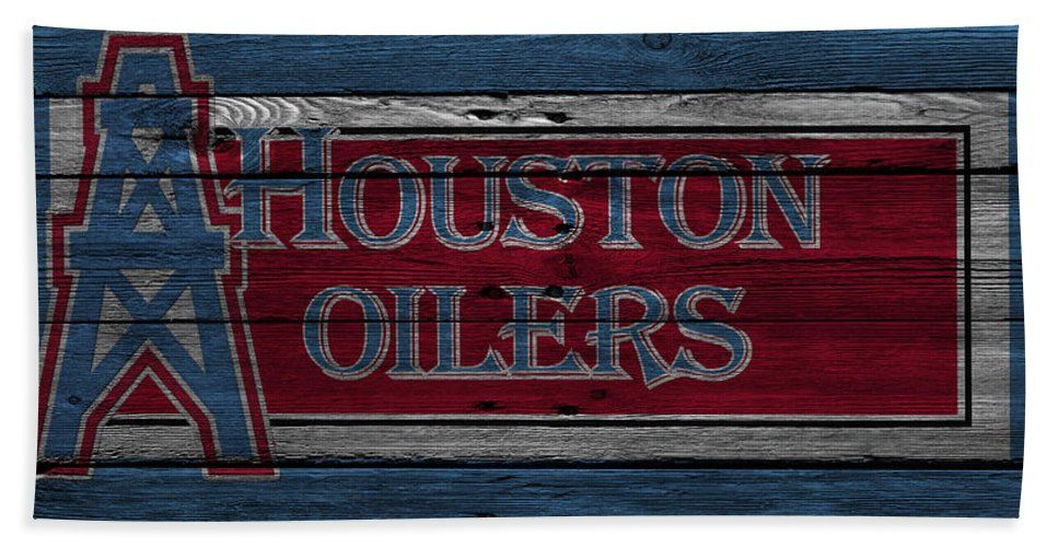 Oilers Hand Towel featuring the photograph Houston Oilers by Joe Hamilton