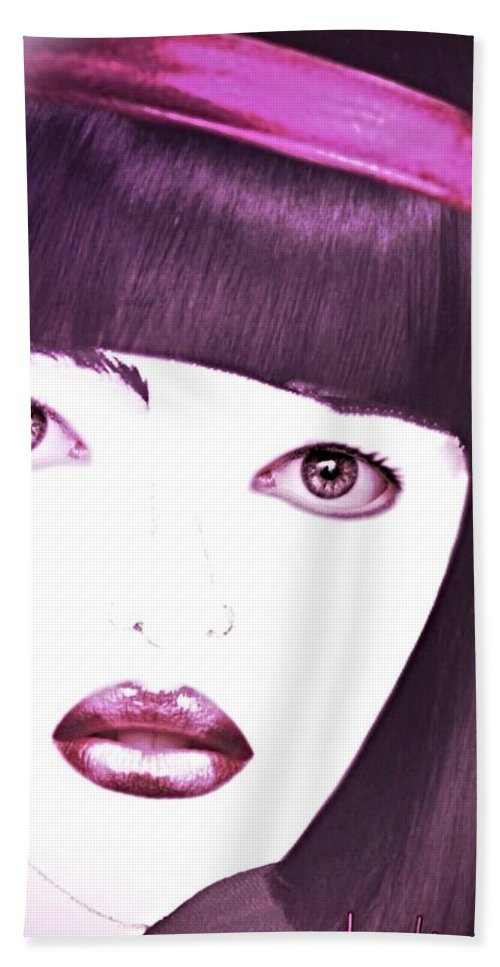 Pikotine Hand Towel featuring the painting Pikotine Art by Pikotine Art