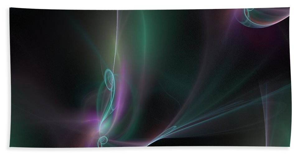 Abstract Hand Towel featuring the digital art Seamless Background Fractal by Henrik Lehnerer
