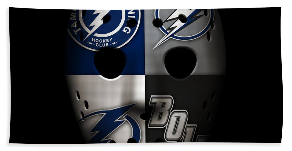 Lightning Hand Towel featuring the photograph Tampa Bay Lightning by Joe Hamilton