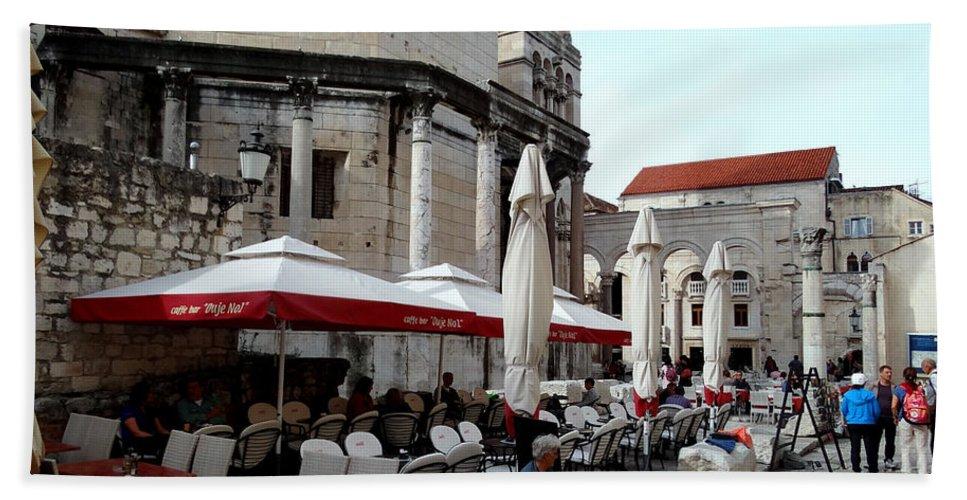 Split Croatia Hand Towel featuring the photograph Views Of Split Croatia by Richard Rosenshein