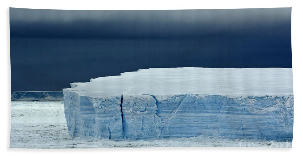 Iceberg Hand Towel featuring the photograph Iceberg, Antarctica by John Shaw
