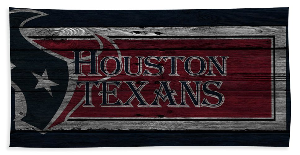 Texans Hand Towel featuring the photograph Houston Texans by Joe Hamilton