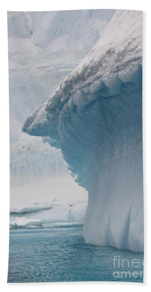 Iceberg Bath Sheet featuring the photograph Iceberg, Antarctica by John Shaw