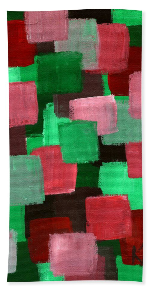 Abstract Bath Sheet featuring the painting 29 by Art by Kar