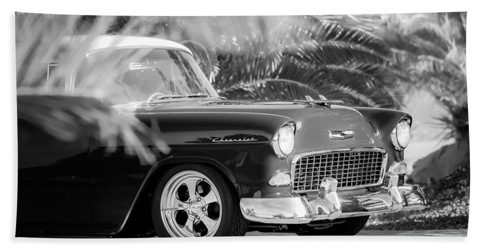 1955 Chevrolet 210 Hand Towel featuring the photograph 1955 Chevrolet 210 by Jill Reger