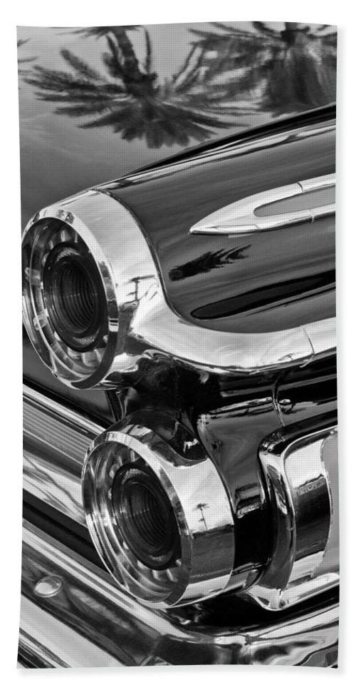 1962 Dodge Polara 500 Taillights Bath Sheet featuring the photograph 1962 Dodge Polara 500 Taillights by Jill Reger