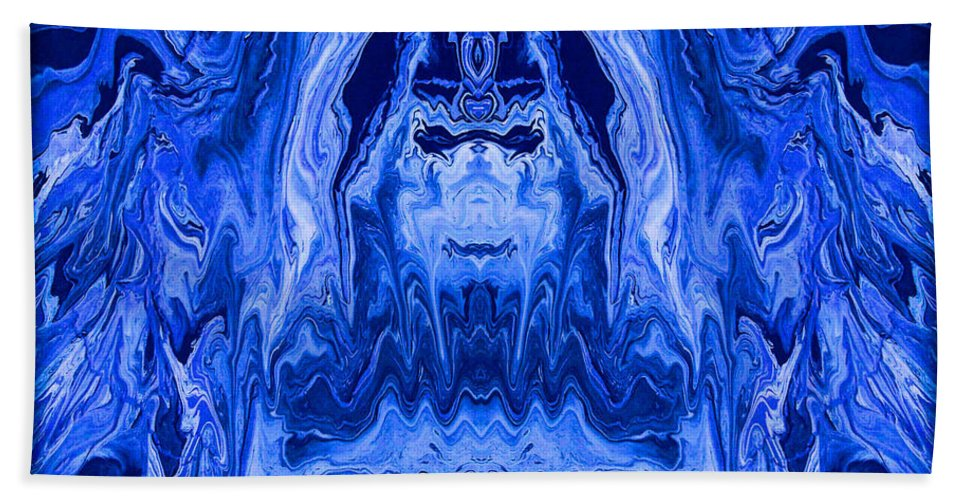 Original Bath Sheet featuring the painting Abstract 40 by J D Owen
