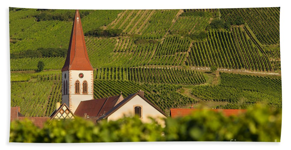 Ammerschwihr Bath Sheet featuring the photograph Alsace Church by Brian Jannsen