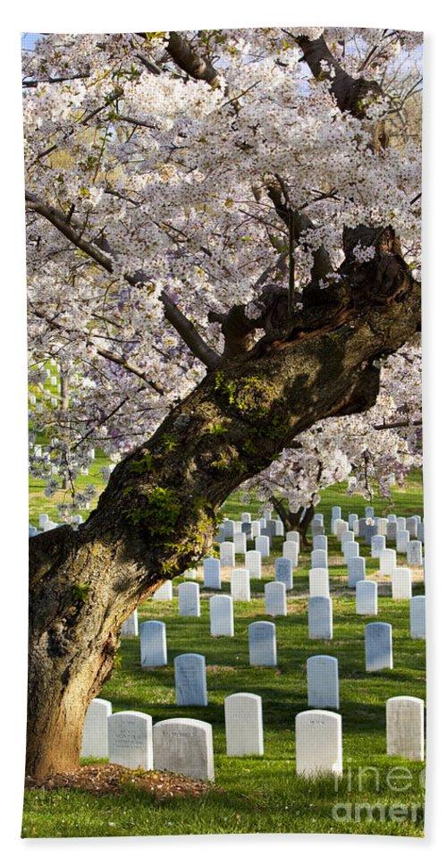 Arlington Hand Towel featuring the photograph Arlington National Cemetary by Brian Jannsen