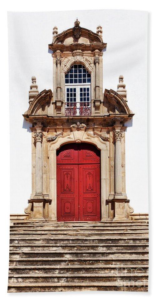 Church Bath Sheet featuring the photograph Baroque Portal by Jose Elias - Sofia Pereira