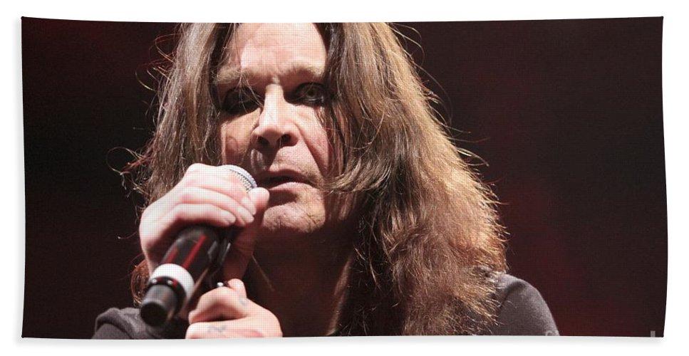 Singer Bath Sheet featuring the photograph Black Sabbath by Concert Photos