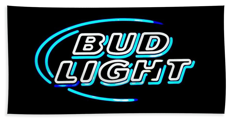 Bath Sheet featuring the photograph Bud Light by Kelly Awad