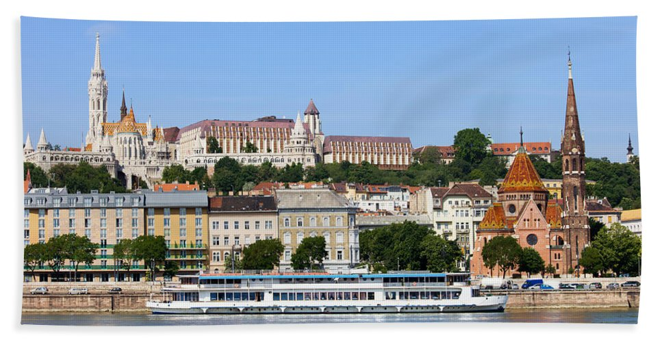 Budapest Bath Sheet featuring the photograph Budapest Cityscape by Artur Bogacki