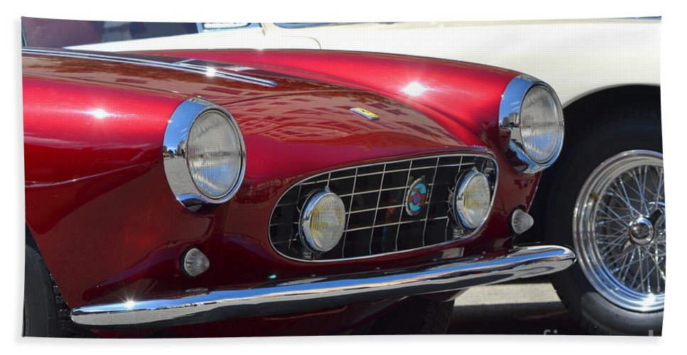 Red Bath Sheet featuring the photograph California Mille by Dean Ferreira