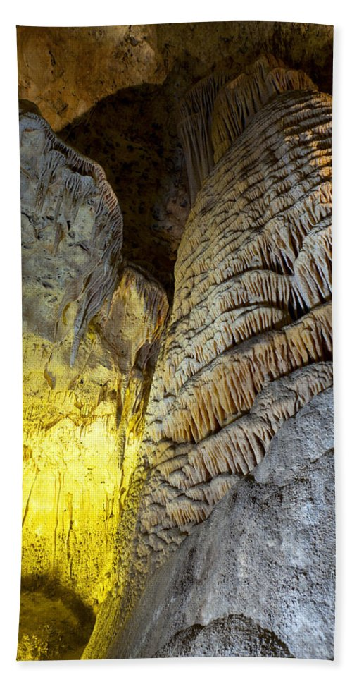 Carlsbad Hand Towel featuring the photograph Carlsbad Cavern by Alexey Stiop