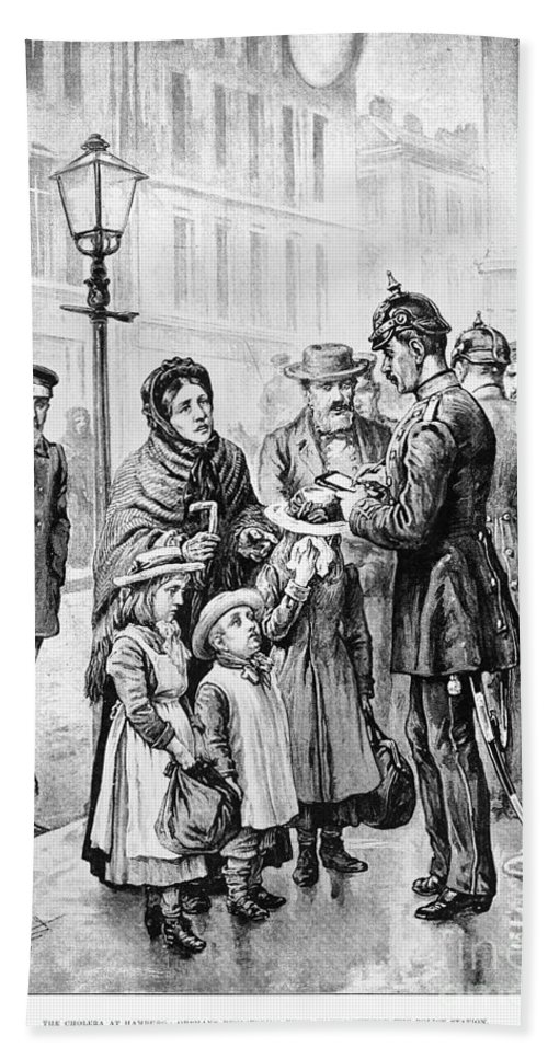 1892 Bath Sheet featuring the photograph Cholera: Hamburg, 1892 by Granger