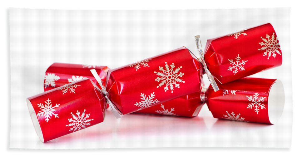 Christmas Hand Towel featuring the photograph Christmas Crackers by Elena Elisseeva
